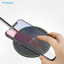FDGAO Fast 10W Qi Wireless Charger for Xiaomi Mi 9 Samsung S9 S10 USB Charger Pad QC 3.0 Quick Charge For iPhone X XS MAX XR 8 цены