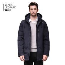 Blackleopardwolf 2019 inverno para baixo jaqueta masculina moda casaco grosso parka alaska destacável outwear à prova de vento confortável BL 891