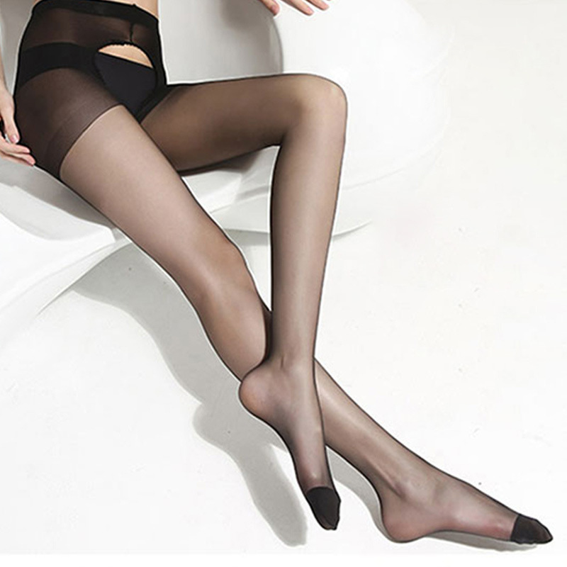 <font><b>Sexy</b></font> <font><b>Open</b></font> <font><b>Crotch</b></font> Tights Ultra Thin Transparent Nylon Stockings Female <font><b>Erotic</b></font> <font><b>Lingerie</b></font> Elastic Pantyhose High Waist Hosiery image