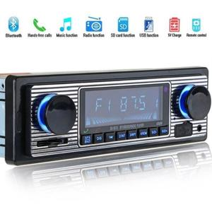 Adeeing Auto Car Radio Bluetooth Vintage Wireless MP3 Multimedia Player 12V Classic Stereo Audio Player Car Electronics