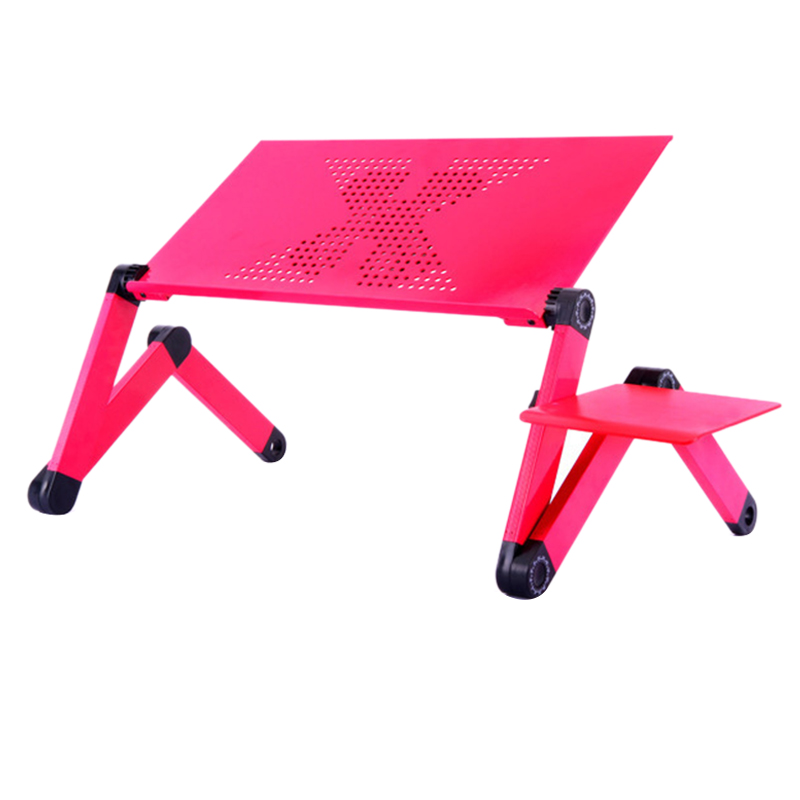 360 Degree Aluminum Adjust Height Laptop Notebook Desk Table +Cooling Fan+Mouse Pad Ergonomic Portable TV Bed Laptop Desk