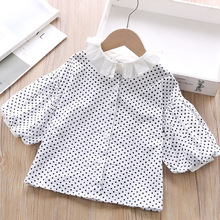 Baby Girl Blouses fashion Toddler Clothes  toddler 2019 autumn Children full shirts causal cotton puff sleeve
