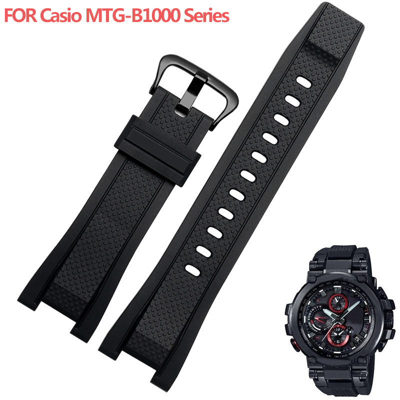 Shengmeirui For MT-G MTG-B1000B-1A GST-W300/ 400G / B100silicone Rubber Watchband Black Red Blue Diving Sports Men's Watch Belt