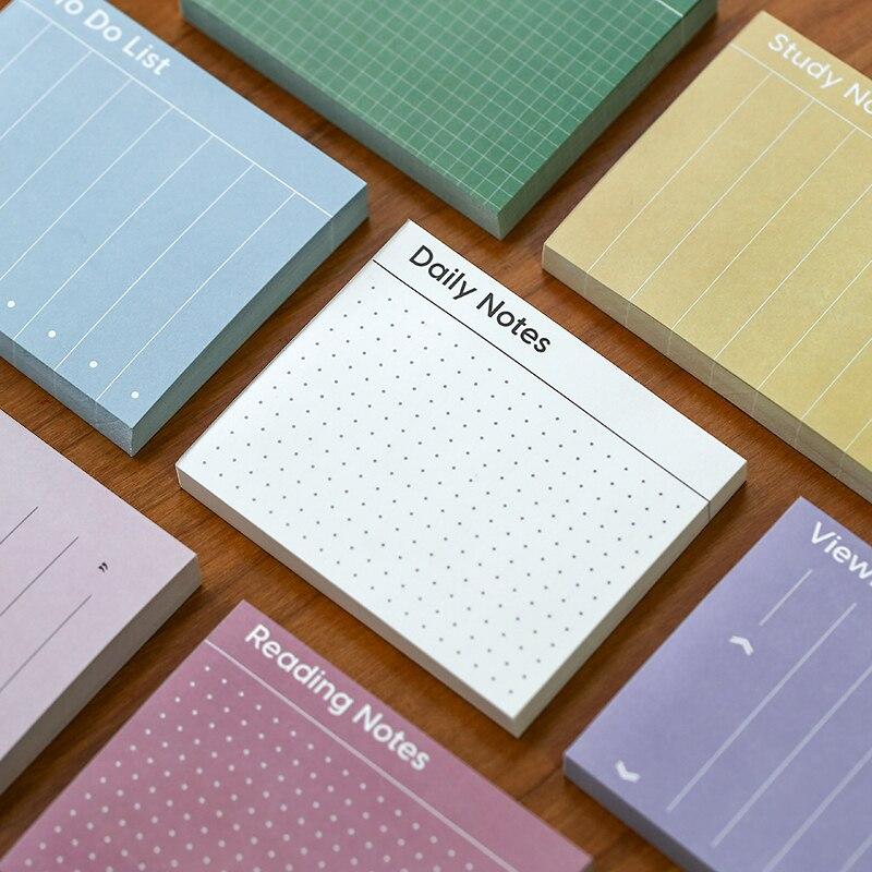 Mini kolor podstawowe karteczki Do notowania Do nauki czytanie powołanie codzienne Do zrobienia lista zakupy 80 arkuszy notatnik uczeń biurowy F138