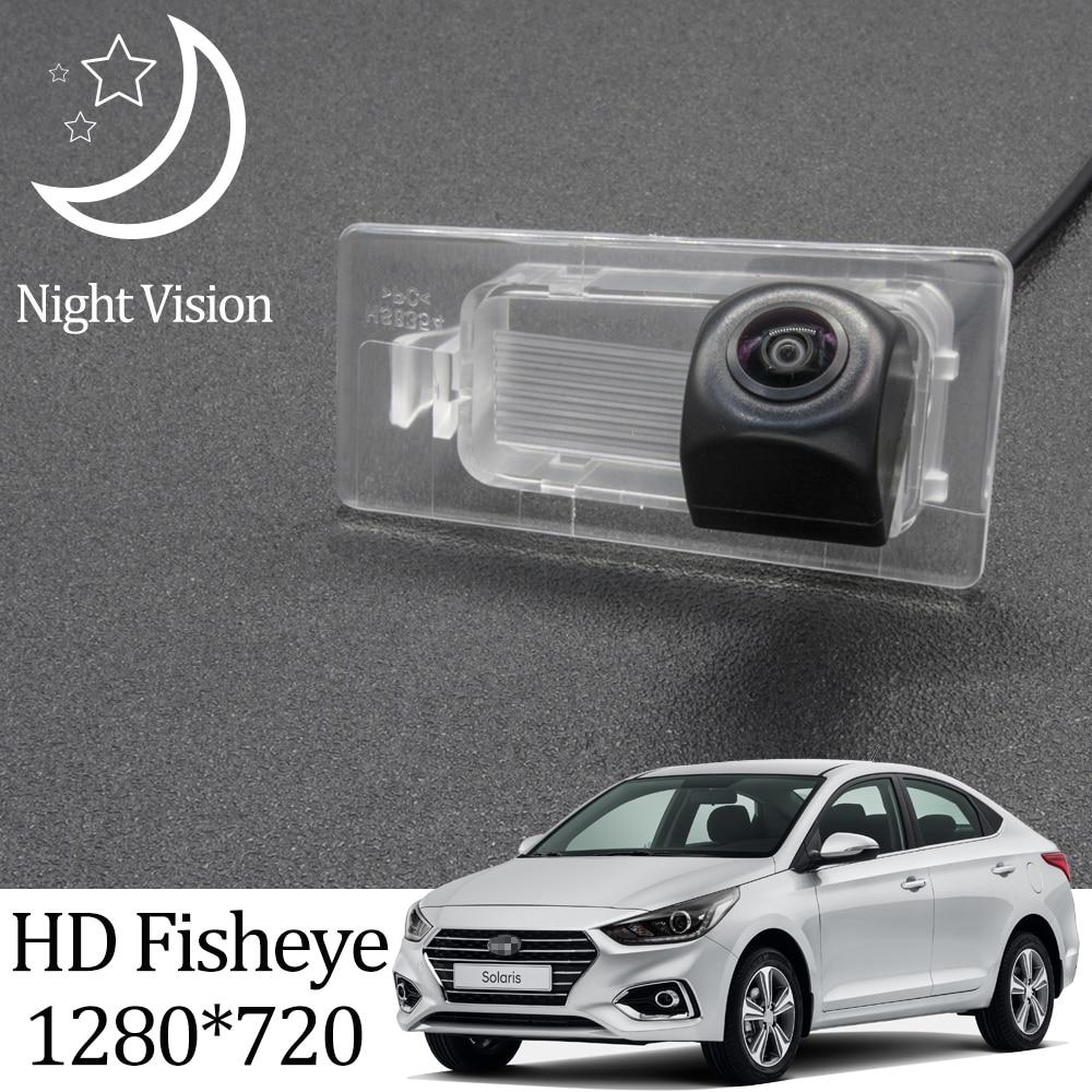 Owtosin hd 1280*720 fisheye câmera de visão traseira para hyundai solaris hcr 2017 2018 2019 2020 carro veículo estacionamento reverso acessórios