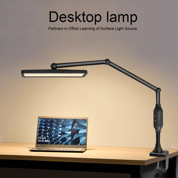 Long Arm Clip-on Lamp Adjustable Brightness Remote Control Touch Dimmer LED Table Lamp For  Reading Room Business Office Work led desk lamp led table lamp iron morden american foldable long arm reading lamp e27 clip office lamp