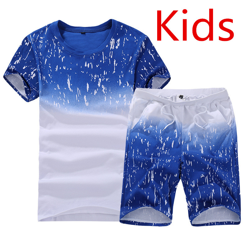 2019 Children's Clothing Autumn New Children's Short-sleeved Boy Cotton Contrast Color Fake Two-piece Boy Bottoming Shirt 11