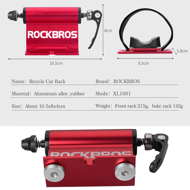 ROCKBROS Bicycle Rack Bike Cargo Racks Carrier Quick-release Alloy Fork Car Bike Block Alloy Mount For MTB Road Bike Accessories