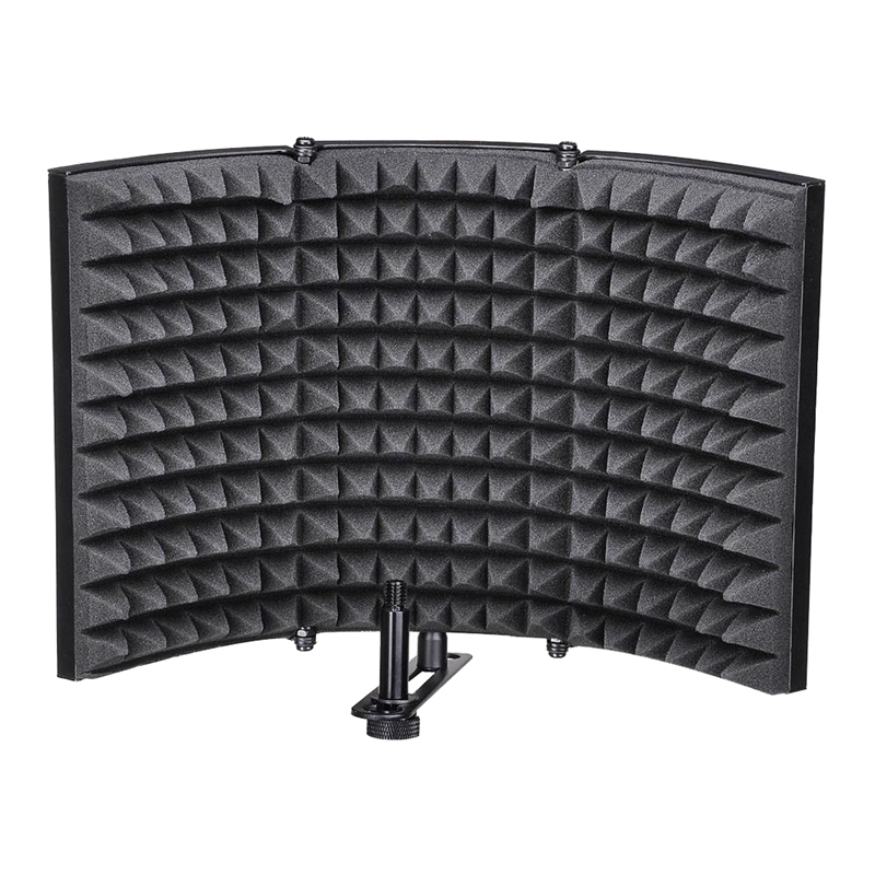 Microphone Isolation Shield, Studio Mic Sound Absorbing Foam Reflector For Any Condenser Microphone Recording Equipment Studio,