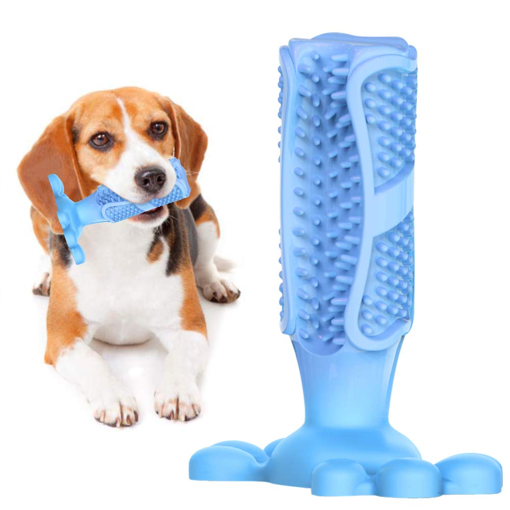 Dog Toothbrush Stick Pet Teeth Cleaning Chew Toys For Dogs Pets Puppy Dental Care Natural Rubber Bite Chewing Brushing Stick image