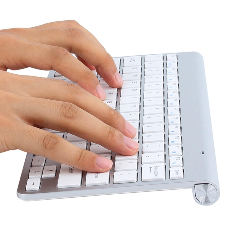 Mini Wireless Keyboard And Mouse Combo Kit Keypad Ultra-Slim Portable Multi-media Mouse Keyboard For Laptop Mac Desktop PC TV-1