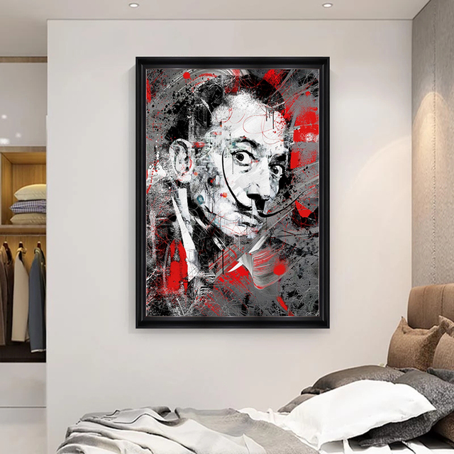 Portrait Art Salvador Dali Oil Painting Canvas Painting Posters and Print Wall Art Picture for Living Room Home Decor (No Frame) 3