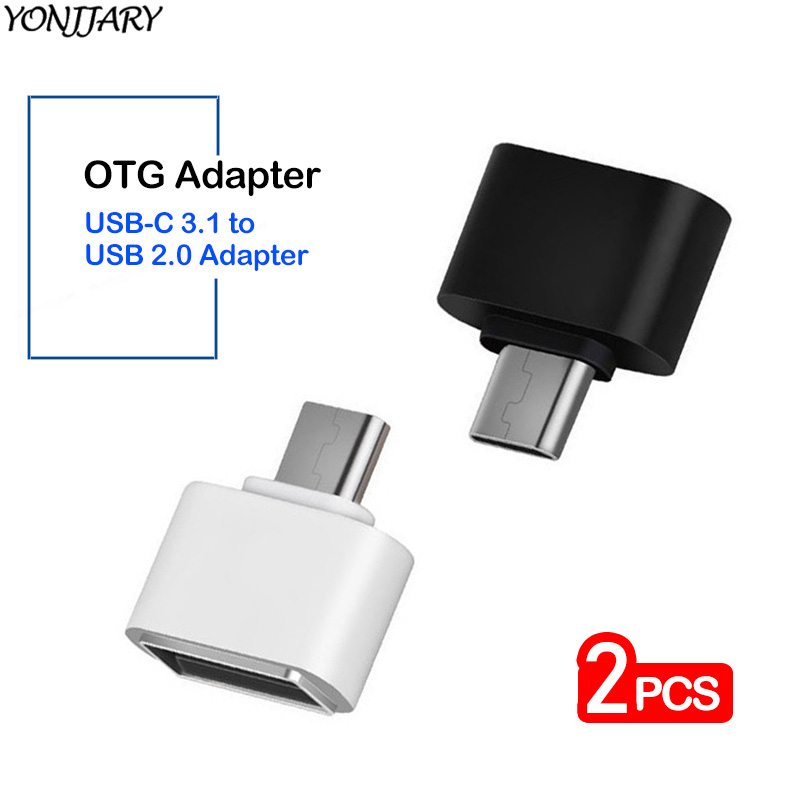 2Pcs USB Type C OTG Adapter For Samsung S20 Xiaomi Mi 10 9 USB OTG Connector Data Converter For Huawei Honor Mate 30 P30 P40 Pro