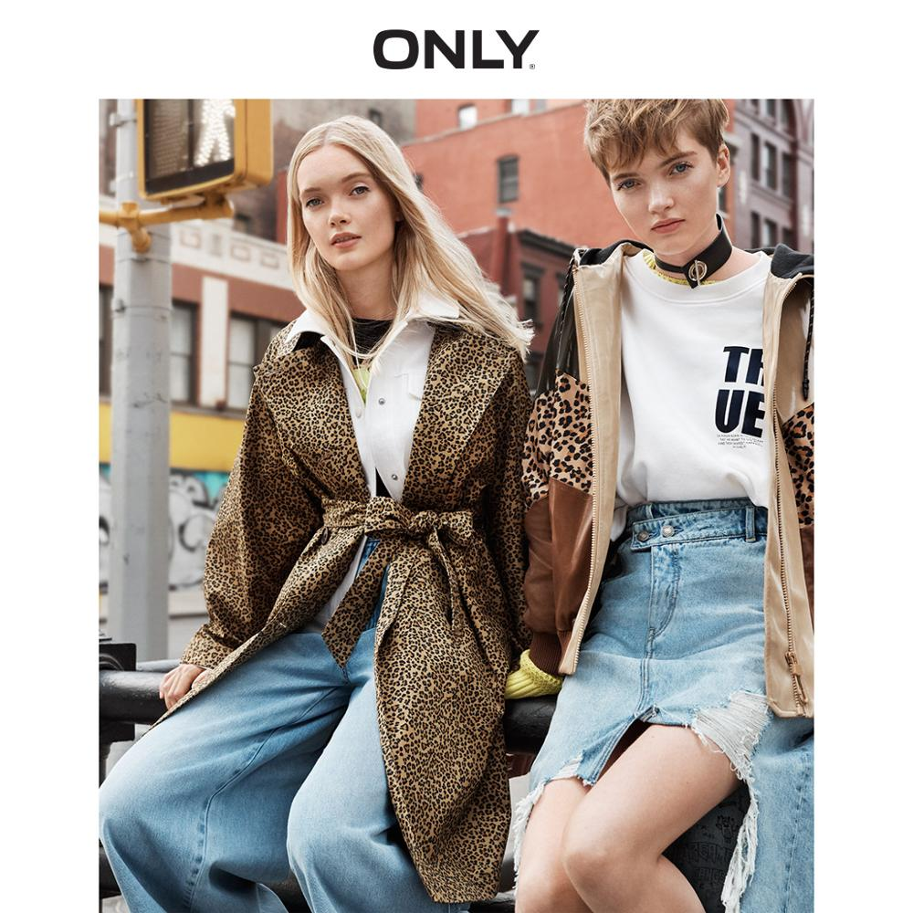 ONLY  Autumn Winter Women's Thin Leopard Print Trench Coat    119336586