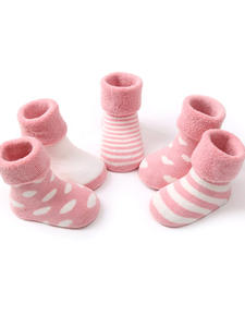 5 pairs baby cotton warm socks autumn winter terry for newborn toddler boys girls sock