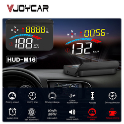 Vjoycar M16 Head Up Display Car GPS Gauge Digital Speedometer Windshield Speed Projector Compass Voltage KM/h MPH for All Cars