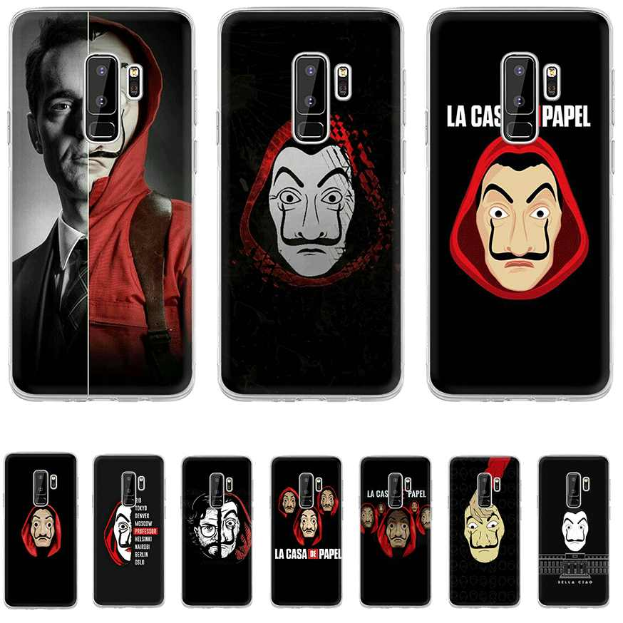 Phone Case TPU For Samsung A5 A6 A7 A8 A9 A10 A20 A30 A40 A50 A60 A70 Cover TV Series Money Heist House Of Paper