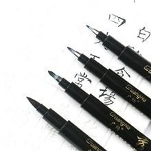 Brush-Pen Stationery Marker Signature Calligraphy-Paint Art Black Supply-Art Drawing