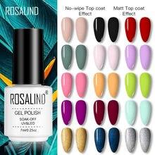 ROSALIND 7ML Nail Polish Gel Varnishes Hybrid Semi Permanent Nail Art Designed UV Nail Manicure Top Base Coat gel polish
