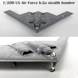 1/200 fino b-2a de la Fuerza Aérea de los EE. UU. Bombardero stealth Modelo de la colección de modelos de aviones de aleación de 558648