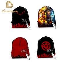 Naruto 3d impressão mochilas das mulheres dos homens sacos de escola multi bolso adolescente 3d notebook mochila sacos de viagem bolsa de ombro