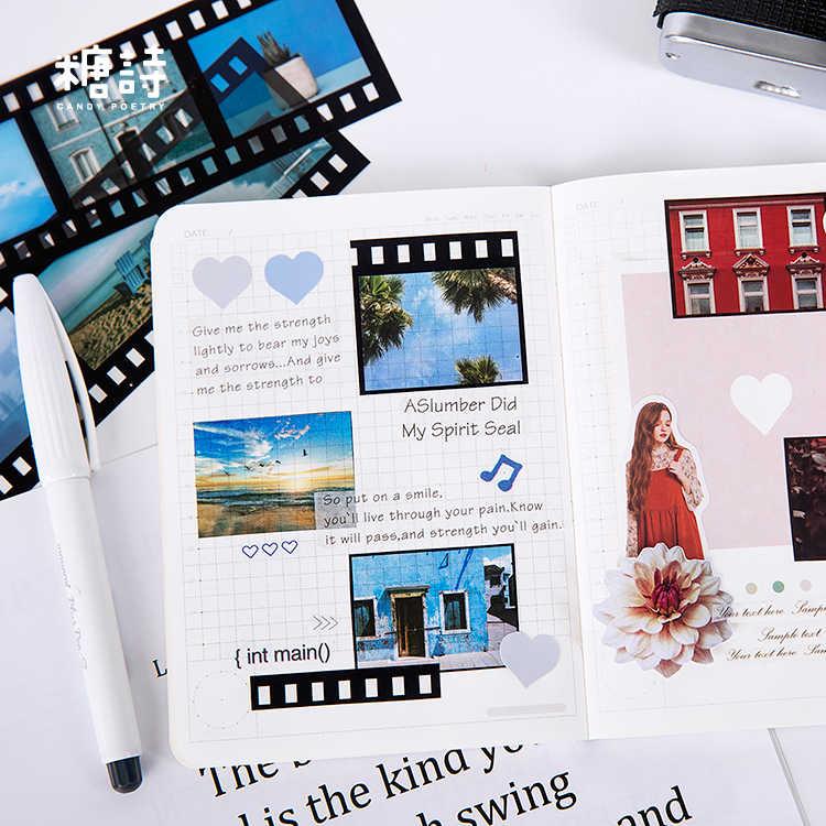 Vintage السفر ملصق صور شفافة DIY بها بنفسك مذكرات بطاقة لاصقة سكرابوكينغ ملصق كتيب الديكور ملصقات Kawaii