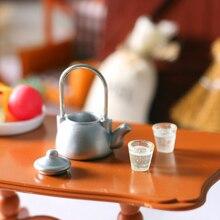 Kettle-Pot Furniture Dollhouse Kitchen Mini Water-Cup-Set Pretend-Toy 1set Kids