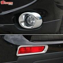Mitsubishi Outlander 2013 2014 크롬 전면 리어 포그 라이트 포그 라이트 램프 커버 트림 범퍼 프로텍터 장식 자동차 스타일링