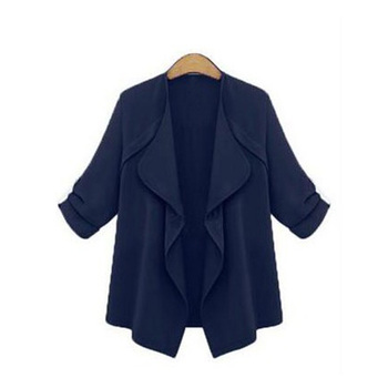 Fashion Womens Autumn Spring Long Sleeve Loose Coat Cardigan Jackets Solid Color