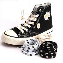 Little Daisies Shoelaces Fashion Women Men Shoes laces Sports Shoelaces Cartoon Printing High-top Canvas Sneakers Shoelace AF1