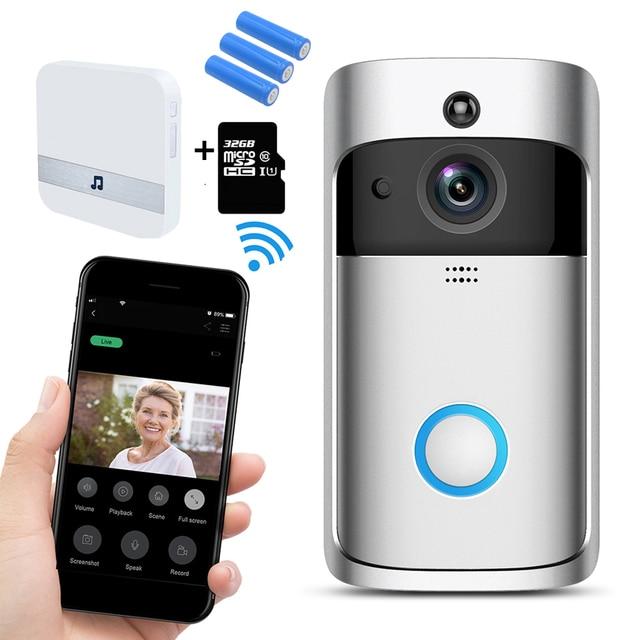 WIFI פעמון חכם IP וידאו אינטרקום וידאו דלת טלפון דלת פעמון מצלמה עבור דירות IR מעורר אבטחה אלחוטית מצלמה