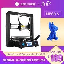 طابعة ANYCUBIC Mega S ثلاثية الأبعاد I3 Mega Series ترقية إطار معدني كامل Impresora طباعة ثلاثية الأبعاد عالية الدقة لتقوم بها بنفسك طابعات ثلاثية الأبعاد