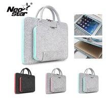 Bolsa de feltro para laptop, maleta de feltro para mac 11 13 15 17 mouse macbook air pro retina para lenovo capa manga de caderno