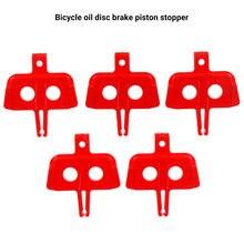 5 unids/lote bicicleta pastillas de freno de disco hidráulico Instert MTB de freno espaciador pistón montaña bici partes ciclismo freno espaciador rojo