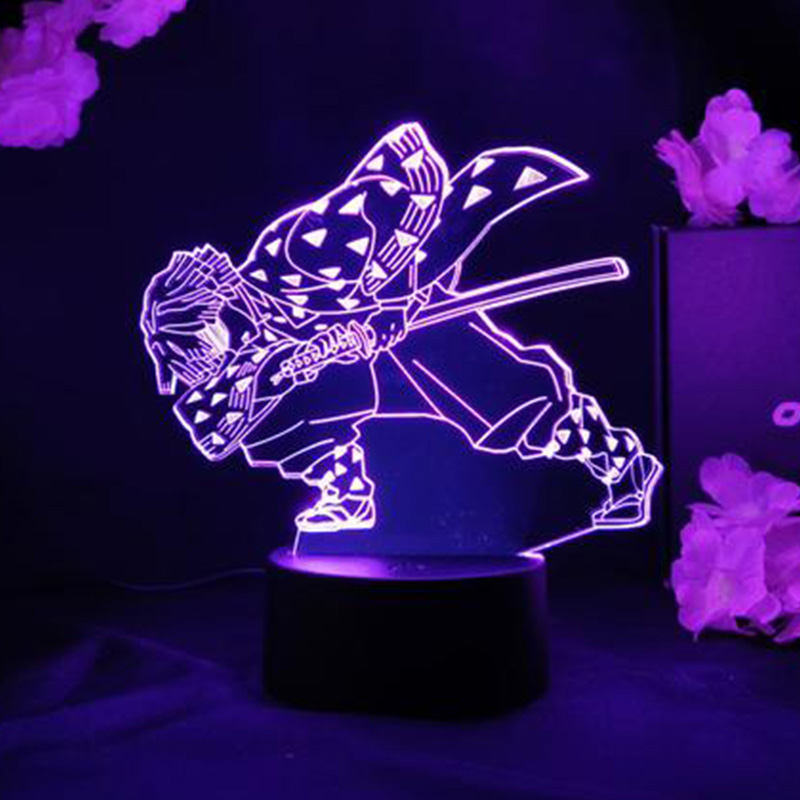 Anime Demon Slayer Acrylic Led Night Light Agatsuma Zenitsu Figure for Kids Child Bedroom Decor Cool Kimetsu No Yaiba Lamp Gift LED Night Lights  - AliExpress