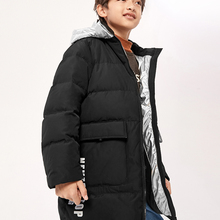 Coat Duck-Jacket Hooded Boys Winter Fashion Children's New Warm Long Windbreak Sports