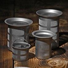Titanyum hasır çay demliği sepeti demlik çay su ısıtıcısı fincan çay demlik sepeti kullanımlık çay kahve filtreleri