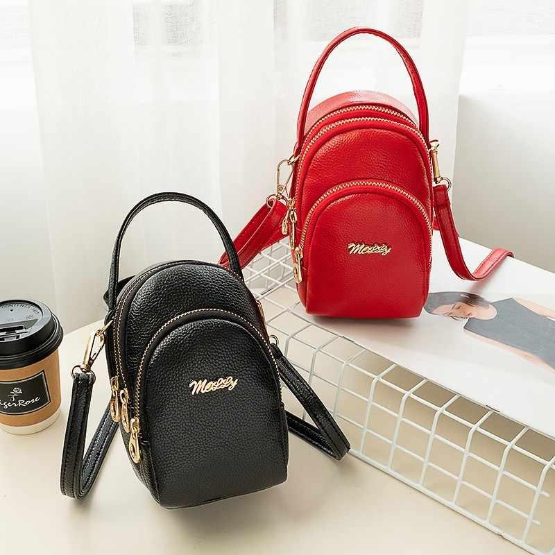 DROP Shipping Kulit Kecil Crossbody Bahu Tas untuk Wanita Fashion Ritsleting Messenger Tas untuk Penggunaan Sehari-hari