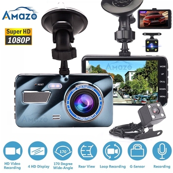цена на Car DVR Dash Cam Dvr Dash Camera  Video Recorder Auto Registrator 4 Inch LCD Screen HD 1080P Driving DVR/Dash Cameras