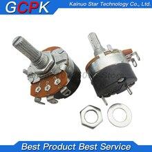 5PCS WH138-1 adjustable resistance speed regulator with switch potentiometer length 20mm B5K B10K B20K B50K B100K B250K B500K
