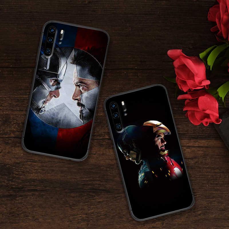 Silicone mềm Ốp Lưng Điện thoại Huawei P10 P20 2019 P8 P9 Mini P30 LITE Marvel Cho Huawei P Smart Z 2018 P20 Pro Coque