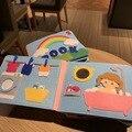 Waschbar Montessori Baby Beschäftigt Bord 3D Kleinkinder Geschichte Tuch Buch Frühen Lernen Bildung Gewohnheiten Wissen Entwicklung Spielzeug