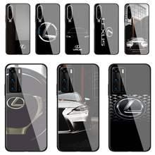 Lexus-funda de teléfono para coche, cristal templado para Huawei P30 lite 20 por P9 10 Mate 10 9 Honor 8X9 10 NOVA 5