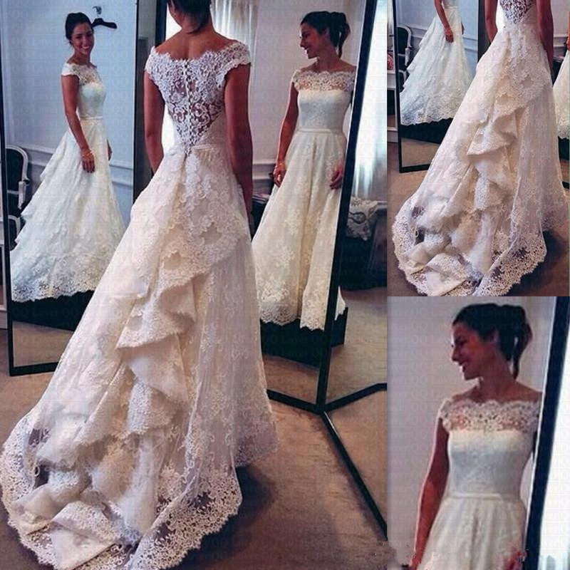 Appliques Vestido De Noiva Amazing Skirt Wedding Dresses 2019 Vintage Lace Party Gowns Robe De Mariee
