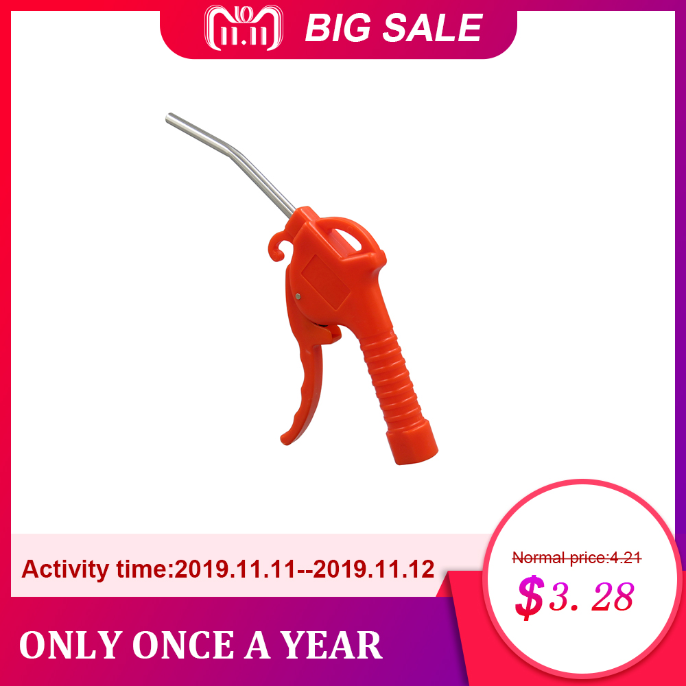 Air Blow Gun Plastic Handle Angled Bent Nozzle Air Duster Blow Gun Cleaner Air Blower Duster Blow Dust Gun Pneumatic Tool / Red