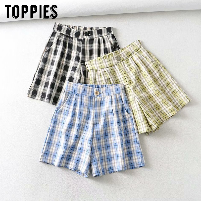 Vintage Lattice Shorts High Waist Women Shorts 2020 Summer Outfits Womens Clothing