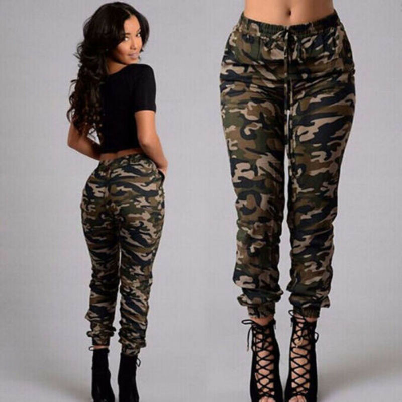 1pc Autumn Outdoor Camping Womens Camo Trousers Casual Hip-hop Military Army Combat Camouflage Pants S-2XL Plus Size Pants Hot