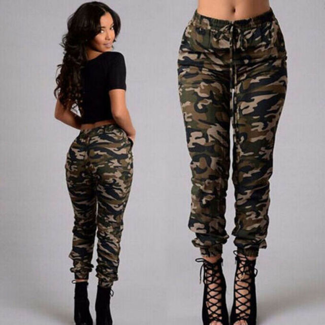 1pc Autumn Outdoor Camping Womens Camo Trousers Casual Hip-hop Military Army Combat Camouflage Pants S-2XL Plus size pants hot 1