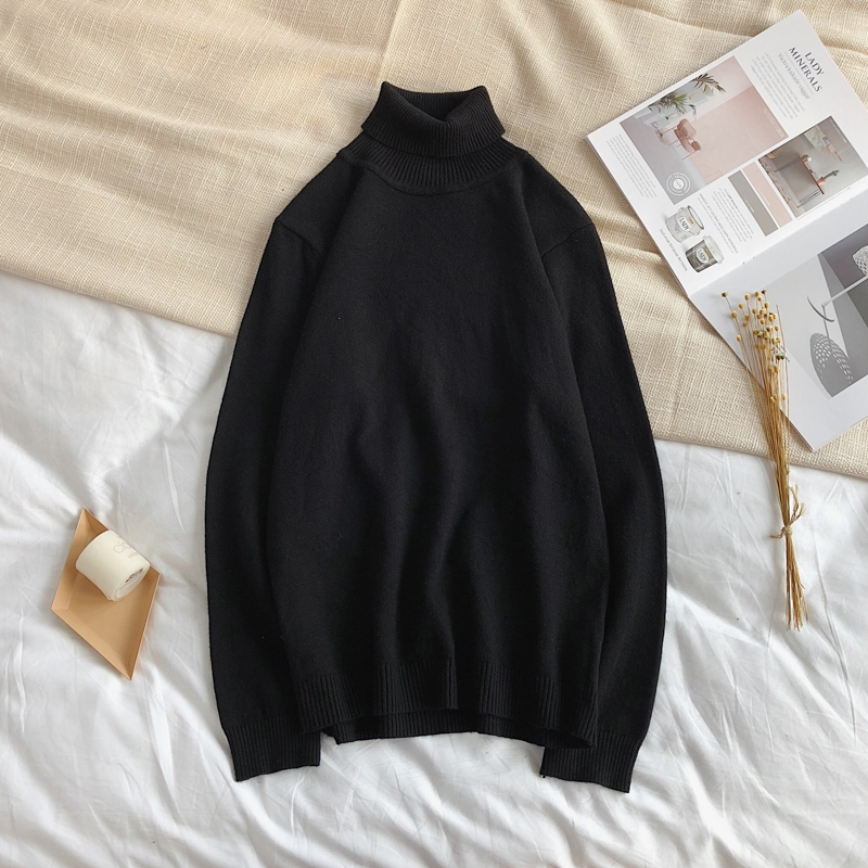 YASUGUOJI New 2019 Autumn And Winter Turtleneck Pullover Men Fashion Turtle Neck Mens Sweater Slim Sweater Men Knitted Sweater