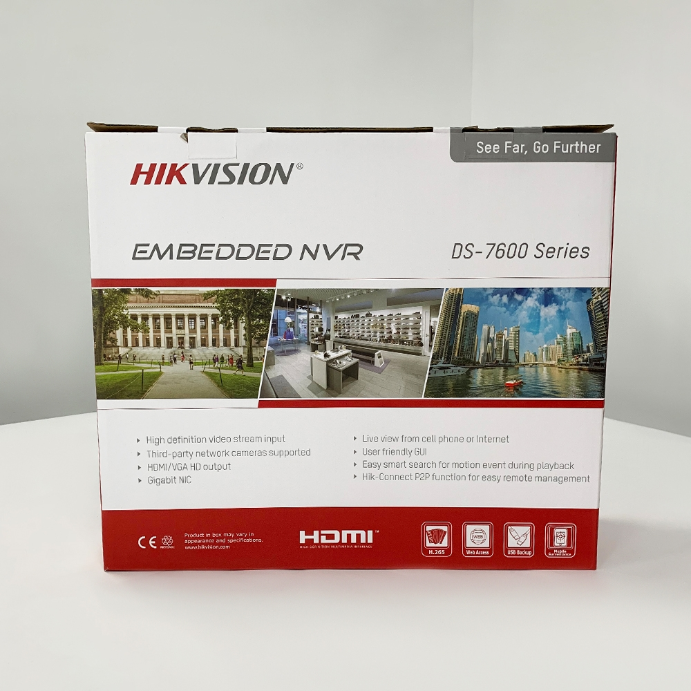 DS-7616NI-I2/16 P version anglaise 16ch NVR avec 2 ports SATA et 16 ports POE, prise et lecture HDMI VGA NVR POE 16ch VCA H.265 2